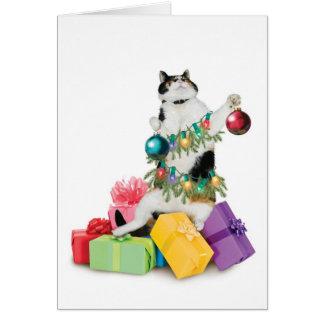 Carte de Noël de chat