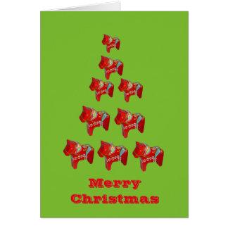 Carte de Noël de cheval de Dala