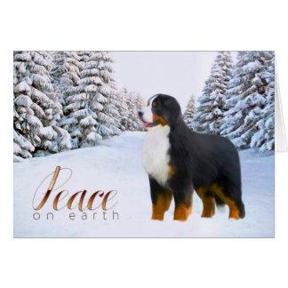 Carte de Noël de chien de montagne de Bernese