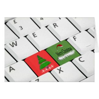 Carte de Noël de clavier d'ordinateur