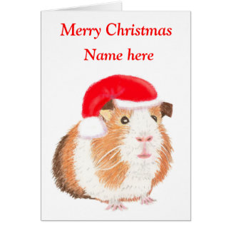 Carte de Noël de cobaye, personnalisable