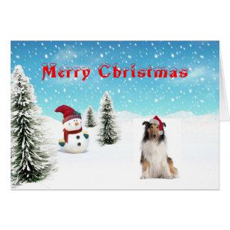 Carte de Noël de colley