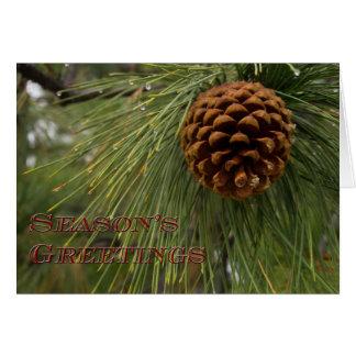 Carte de Noël de cône de Pne