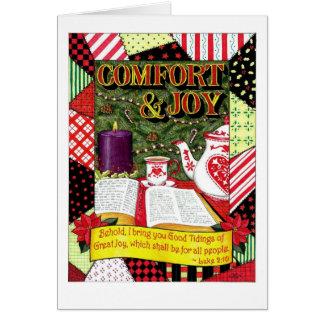 Carte de Noël de confort et de joie
