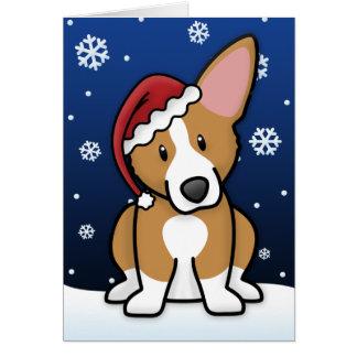 Carte de Noël de corgi de Gallois de Pembroke de