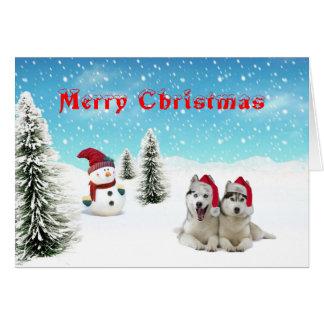 Carte de Noël de costaud sibérien
