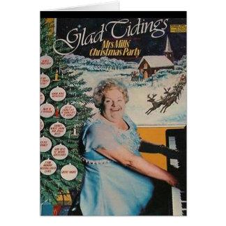 Carte de Noël de couverture de disque vinyle