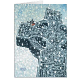 Carte de Noël de croix celtique