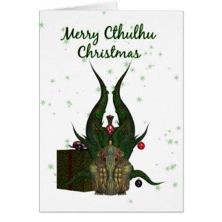 Carte de Noël de Cthulhu - Cthulhu