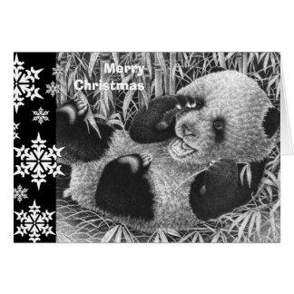 Carte de Noël de CUB de panda géant