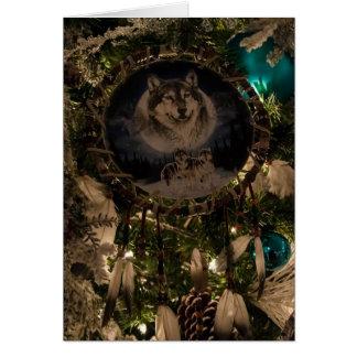 Carte de Noël de Dreamcatcher de loup