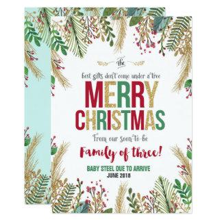 Carte de Noël de faire-part de grossesse de Noël