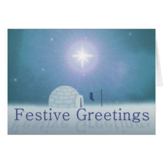 Carte de Noël de fête de salutations