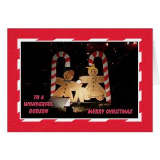 Carte de Noël de filleul -- Pain d'épice
