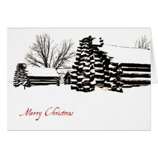 Carte de Noël de forge de vallée