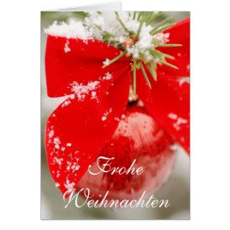 Carte de Noël de Frohe Weihnachten