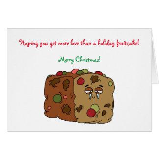 Carte de Noël de gâteau de fruits secs