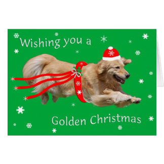 Carte de Noël de golden retriever 2013
