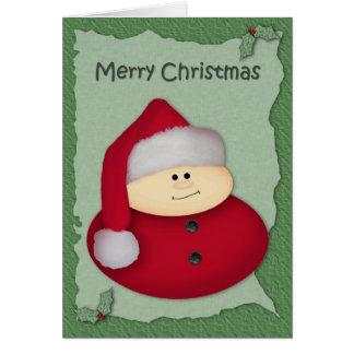 Carte de Noël de gros caractères de Père Noël