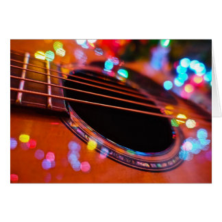 Carte de Noël de guitare acoustique