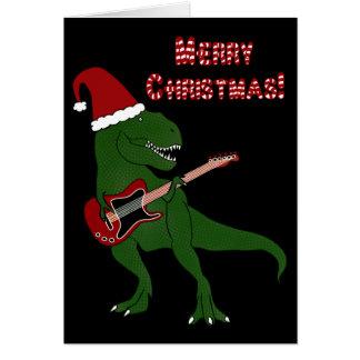 Carte de Noël de guitare de T-Rex