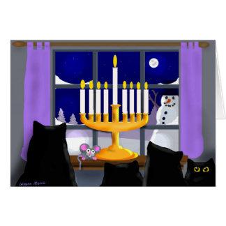 Carte de Noël de Hanoukka