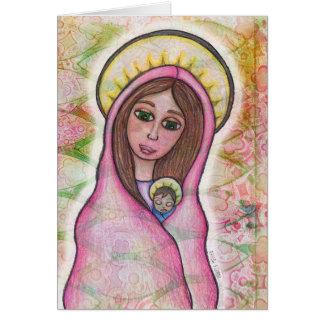 Carte de Noël de Jésus de Mary et de bébé