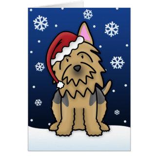 Carte de Noël de Kawaii Terrier australien