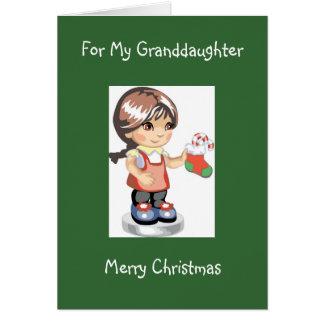 Carte de Noël de la diva pour sa petite-fille