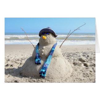 Carte de Noël de la femme de neige de la Floride