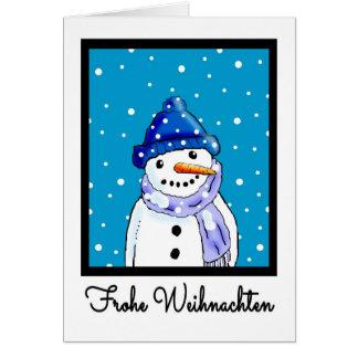 Carte de Noël de langue allemande - Frohe