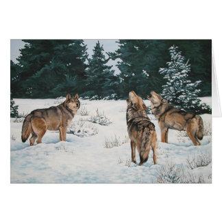 Carte de Noël de loup