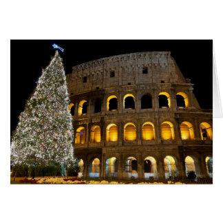 Carte de Noël de magazine de l'Italie - Colosseum