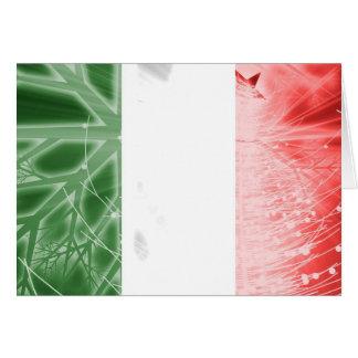Carte de Noël de magazine de l'Italie - drapeau