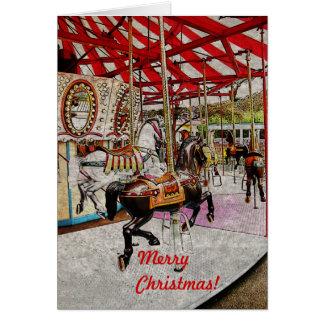 Carte de Noël de manège
