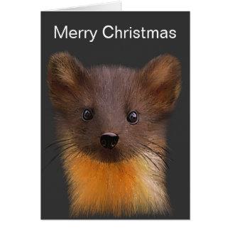 Carte de Noël de martre de pin