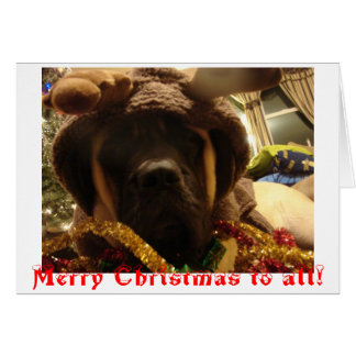 Carte de Noël de mastiff