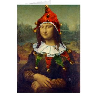 Carte de Noël de Mona Lisa Elf