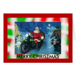 Carte de Noël de moto