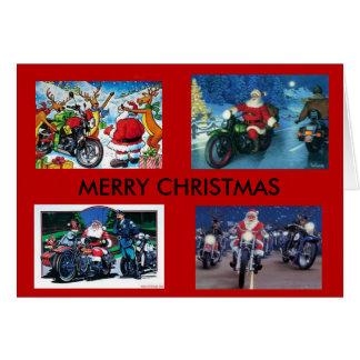 Carte de Noël de motos
