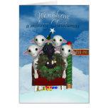 Carte de Noël de moutons - carte de vacances de mo