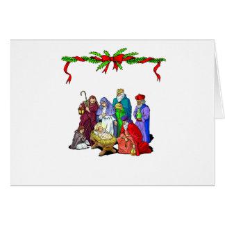Carte de Noël de nativité