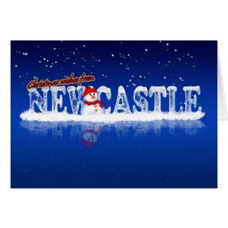 Carte de Noël de Newcastle - souhaits de Noël