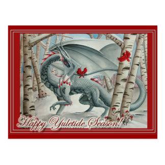Carte de Noël de Noël de dragon