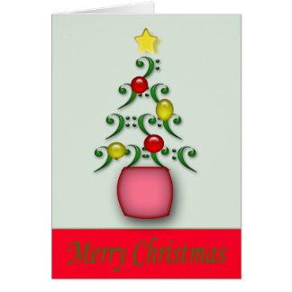 Carte de Noël de notes musicales