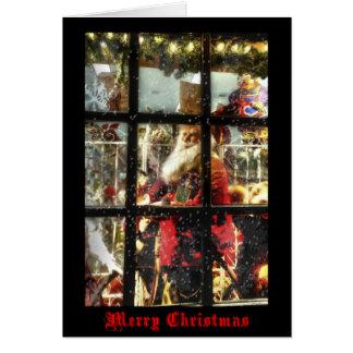 Carte de Noël de Père Noël