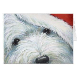 "Carte de Noël ""de Père Noël brouillé"" Westie par"