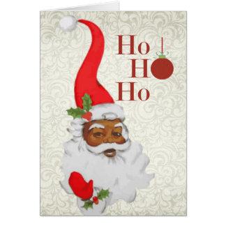 Carte de Noël de Père Noël d'Afro-américain