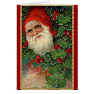 Carte de Noël de Père Noël d'Allemand