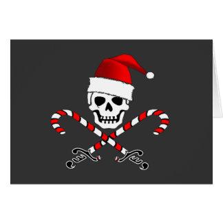 Carte de Noël de Père Noël de jolly roger de